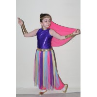 Anadolu Ateşi Kız Çocuk Kostümü (Renkli)