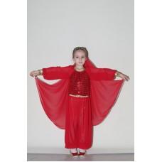 Anadolu Ateşi Kız Çocuk Kostümü (Kırmızı)