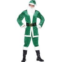 Yeşil Noel Baba Kostümü